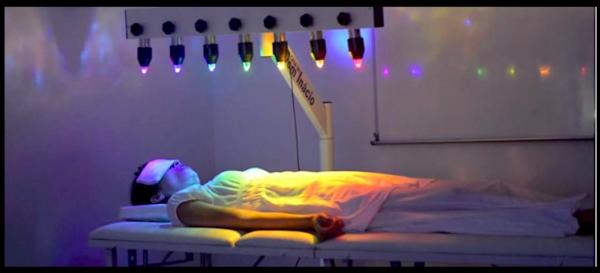 Lichtkristallbett Behandlung